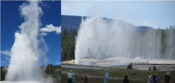 Deven's Trip to Yellowstone - Big Faithful Geyser